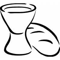 Disegno di Pane e Vino da colorare