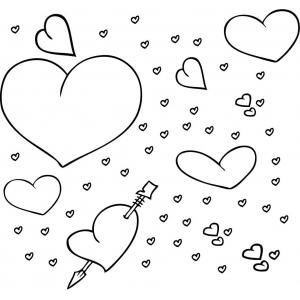 Disegno di mille cuori da colorare per bambini gratis for Disegni di cuori da stampare gratis