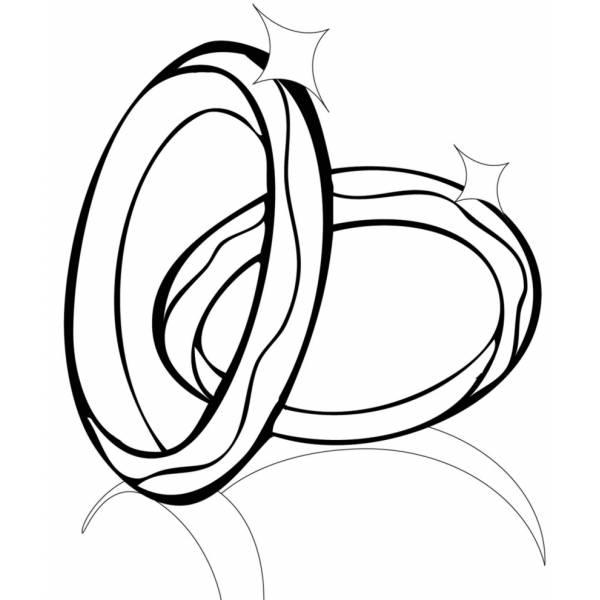 Disegno di anelli da colorare per bambini for Disegno pagliaccio da colorare