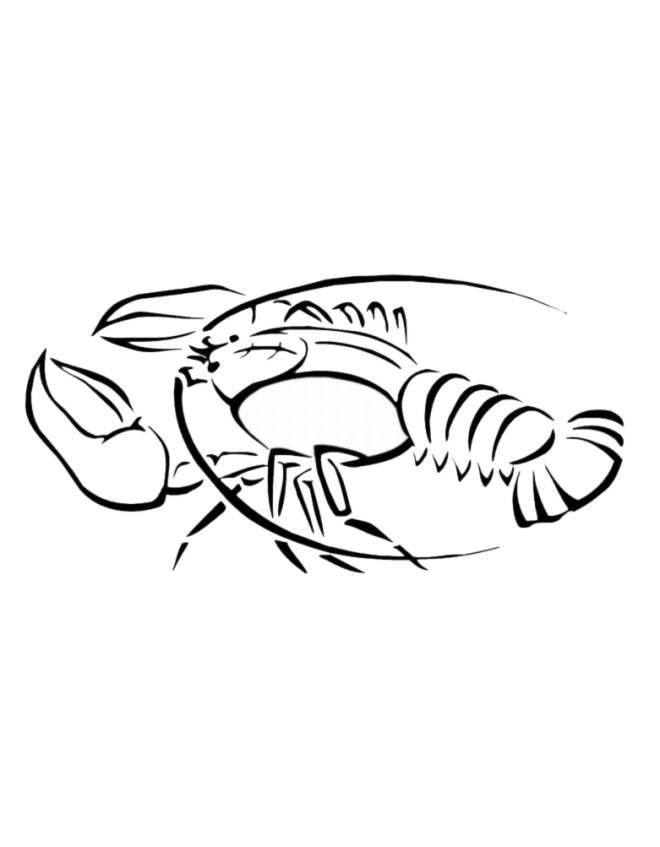 Stampa disegno di aragosta da colorare for Costruzione di disegni online