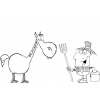 Disegno di Il Cavallo nella Fattoria da colorare