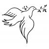Disegno di Colomba della Pace da colorare