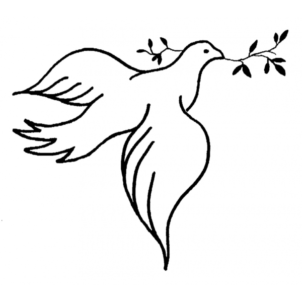 Famoso Disegno di Colomba della Pace da colorare per bambini  TI18
