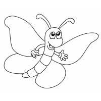 disegno di Happy Butterfly da colorare
