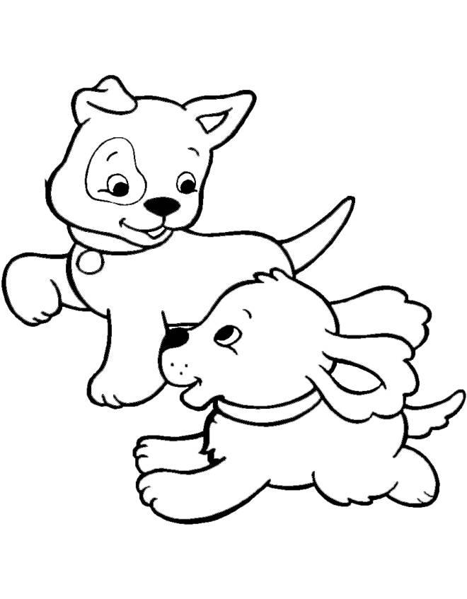 Stampa Disegno Di Cuccioli Di Cane Da Colorare