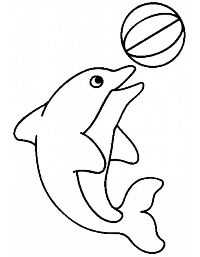 Conosciuto Disegno di Delfino con la Palla da colorare per bambini  RE93