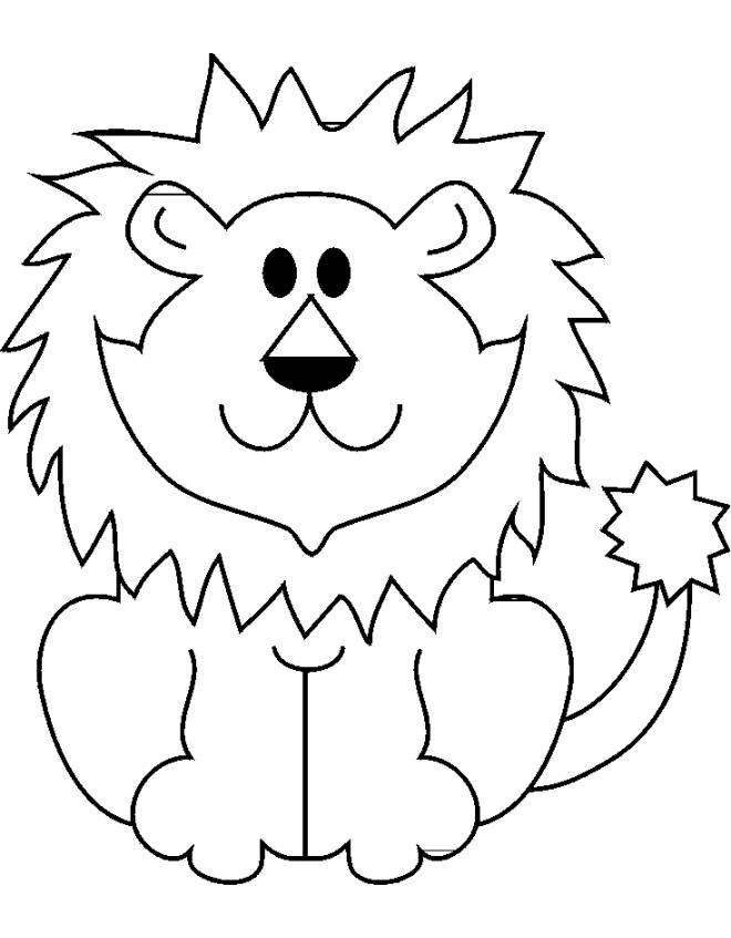 Disegno di il leone da colorare per bambini for Programma per disegnare in 3d facile