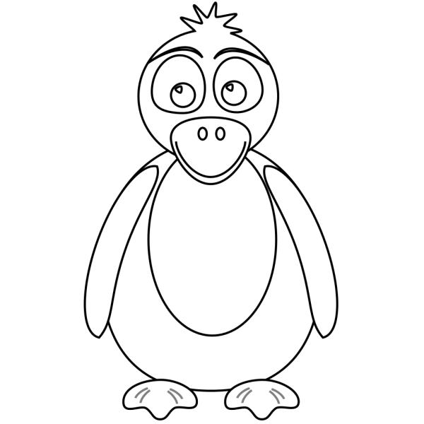 Disegno di pingu da colorare per bambini for Pinguino da colorare