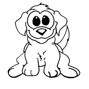 Disegno di cagnolino da colorare per bambini gratis for Cane da disegnare per bambini