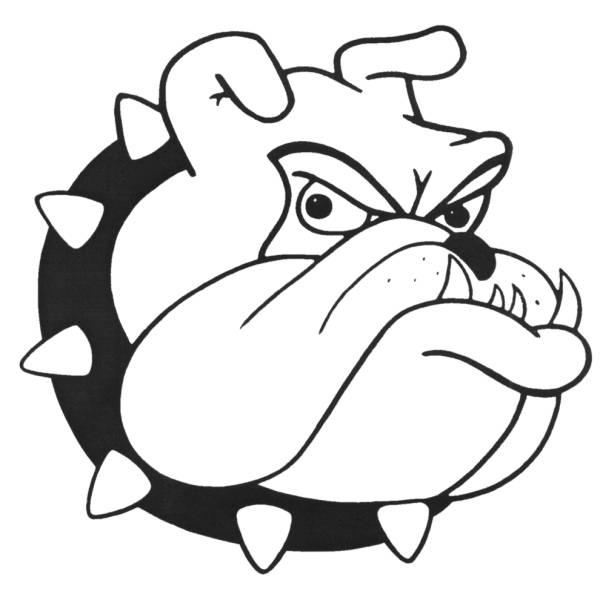 Disegno Di Cane Bulldog Da Colorare Per Bambini