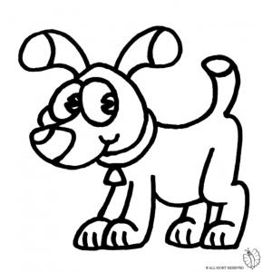 Disegni per bambini cane fare di una mosca for Cane da colorare e stampare