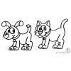 disegno di Cane e Gatto da colorare