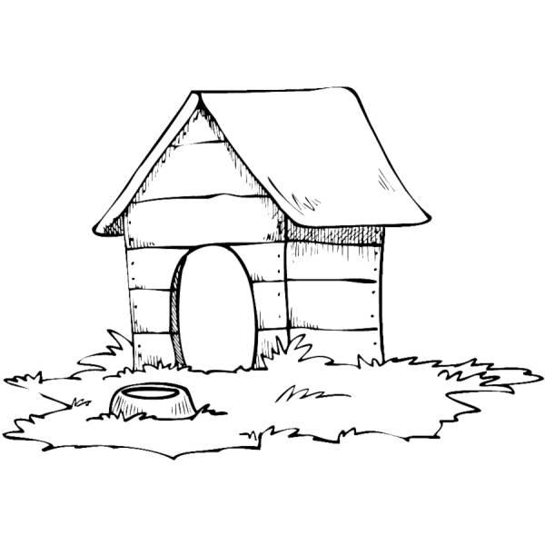 Disegno di casa del cane da colorare per bambini - Disegni per casa ...