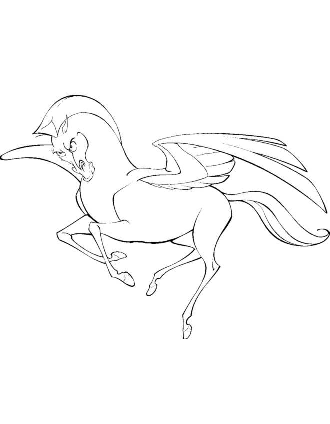 Stampa Disegno Di Cavallo Alato Da Colorare