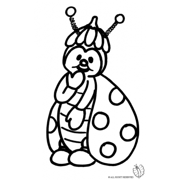 Disegno Di Coccinella Da Colorare Per Bambini