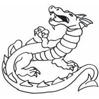 disegno di Dragon da colorare