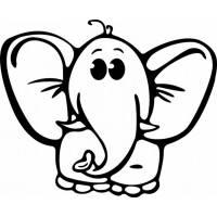 Disegno di Elefantino da colorare