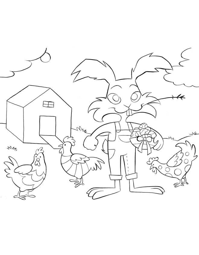 Disegno di fattoria di pasqua da colorare per bambini for Foto di piani di costruzione di fattoria