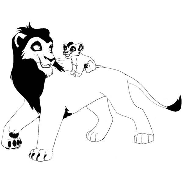 Disegno Di Leoni Da Colorare Per Bambini Disegnidacolorareonlinecom