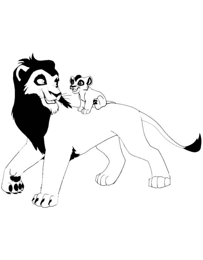Disegno Di Leoni Da Colorare Per Bambini Disegnidacolorareonline Com