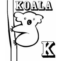 Disegno di Scheda Lettera K da colorare