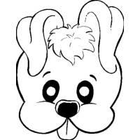 Disegno di Maschera di Cagnolino da colorare