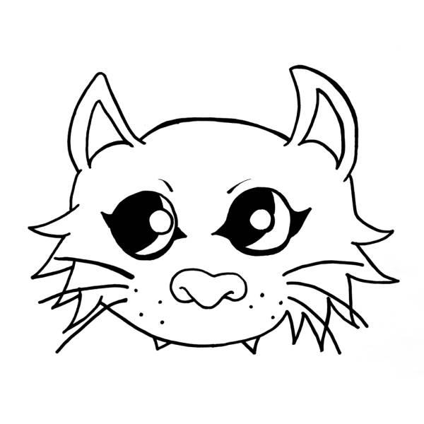 Disegno Di Maschera Del Gatto Da Colorare Per Bambini