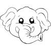 Disegno di Maschera di Elefantino da colorare