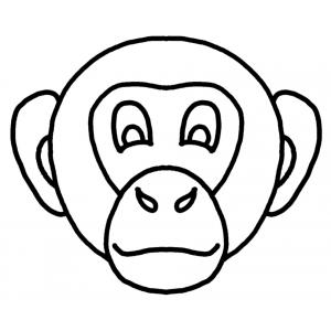 Disegno di maschera di scimmietta da colorare per bambini for Maschere da colorare di spiderman