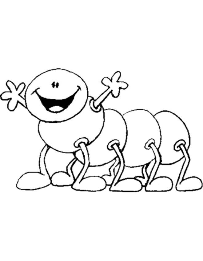Disegno di millepiedi con sorriso da colorare per bambini - Immagini di aquiloni per colorare ...