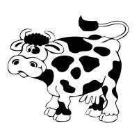 disegno di Mucca con le Macchie da colorare