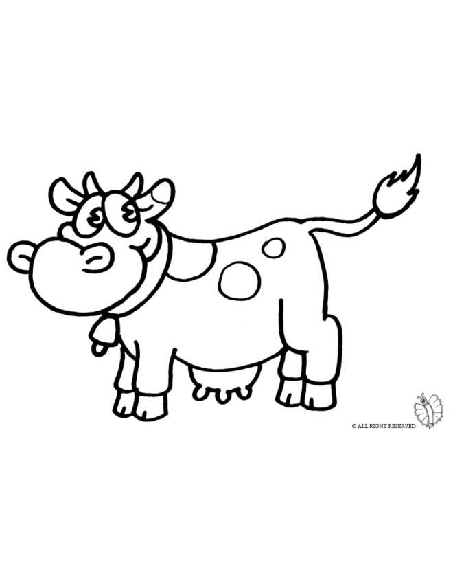Disegno di mucca da colorare per bambini