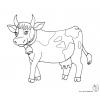 Disegno di Mucca con Campana da colorare