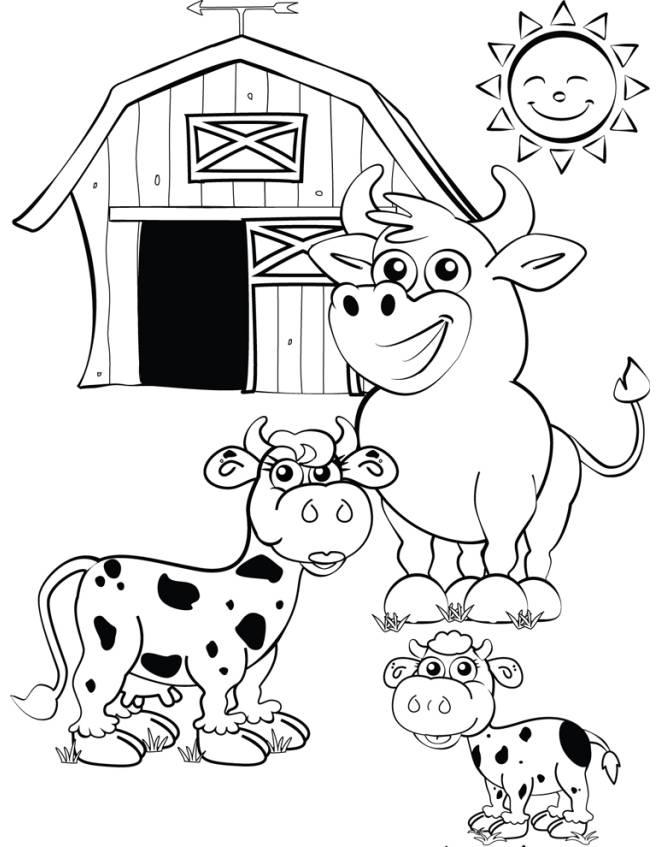 Disegno di la fattoria con le mucche da colorare per for Fattoria immagini da colorare