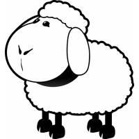 Disegno di Pecorella da colorare