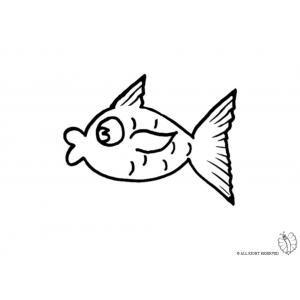 Disegno di pesce tropicale da colorare per bambini gratis for Pesce disegno da colorare
