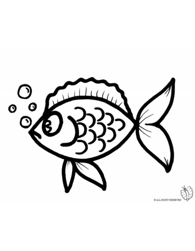 Stampa disegno di pesciolino con le bollicine da colorare for Disegni da colorare pesciolini