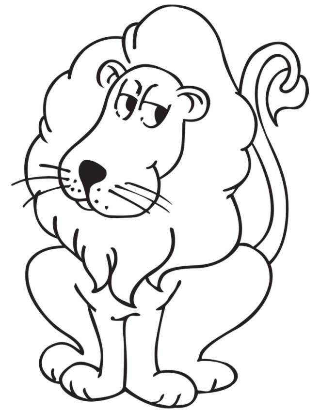 Disegni Da Colorare Di Animali Della Foresta.Disegno Di Re Della Foresta Da Colorare Per Bambini Disegnidacolorareonline Com