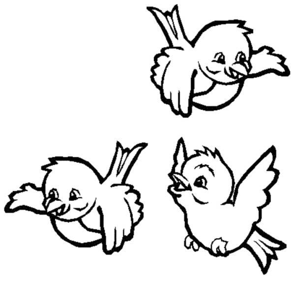 Disegno di Uccellini da colorare