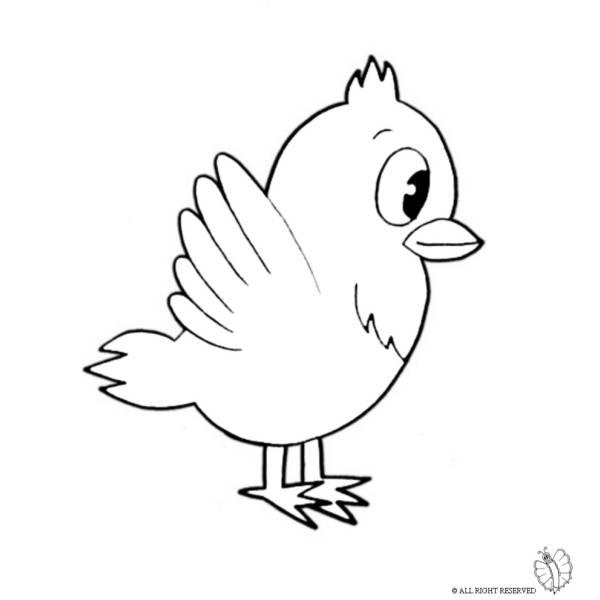 Disegno di Uccello da colorare