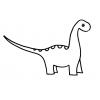 Disegno di Dinosauro Apatosaurus da colorare