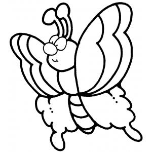 Disegno di Farfalla da colorare