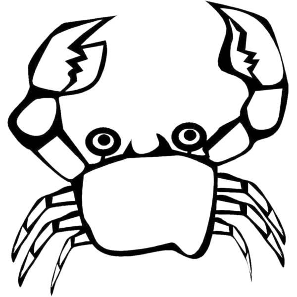 Disegno di il granchio da colorare per bambini for Immagini di pesci da disegnare