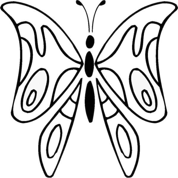 Disegno di la farfalla da colorare per bambini for Farfalle da ricamare