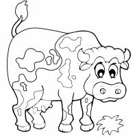 Disegno di La Mucca della Fattoria da colorare