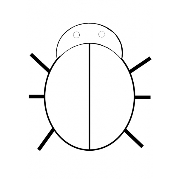 Disegno di La Piccola Coccinella da colorare