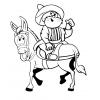 disegno di Uomo Buffo a Cavallo da colorare