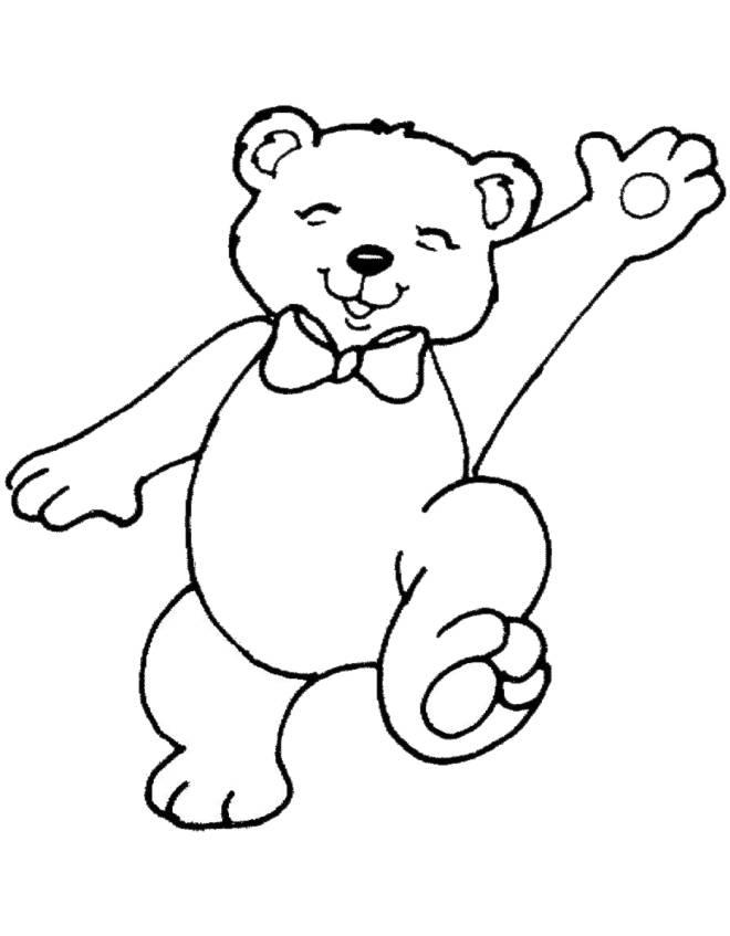 Disegno di orsetto da colorare per bambini for Disegno orso per bambini