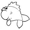 Disegno di pesce d 39 aprile a colori per bambini gratis for Disegno pesce palla