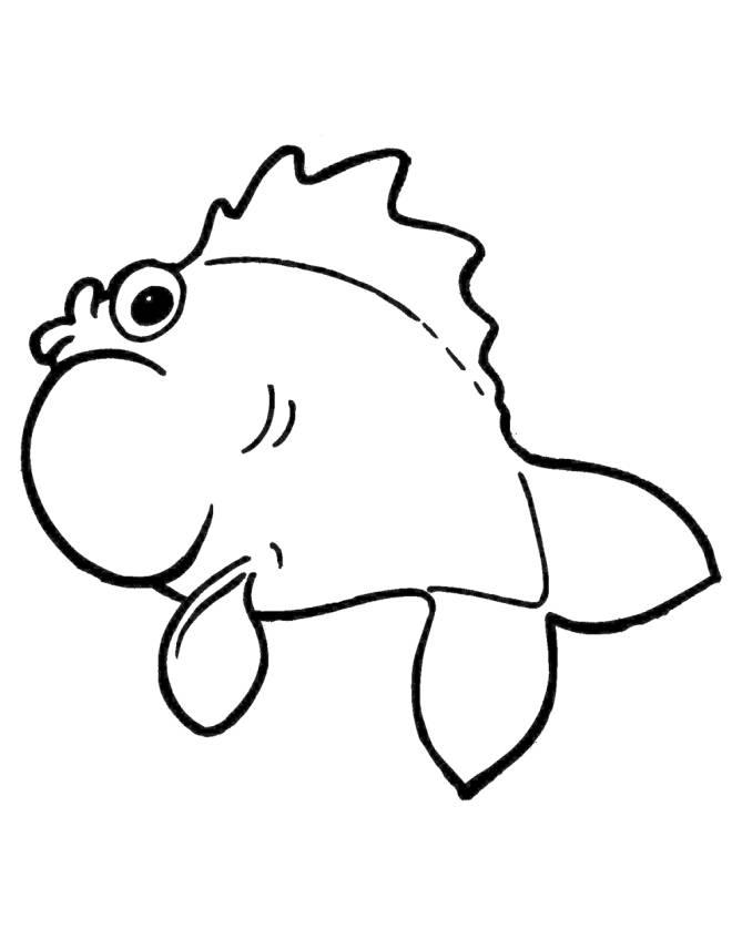 Disegno di il pesce palla da colorare per bambini for Pesciolini da colorare per bambini